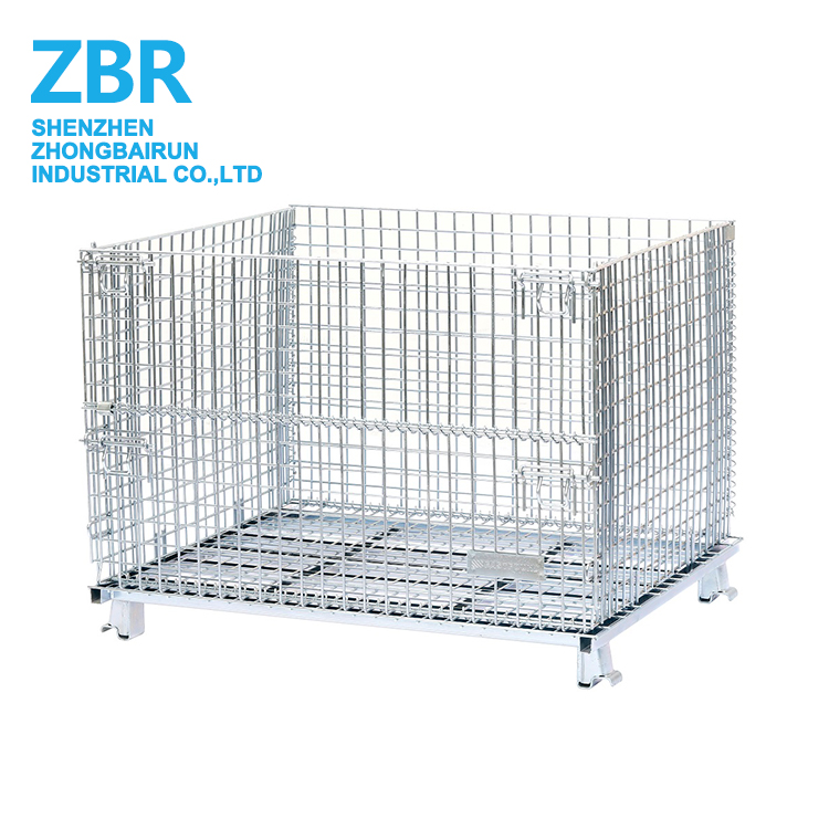 Firewood stacking storage cage wire mesh container for sale