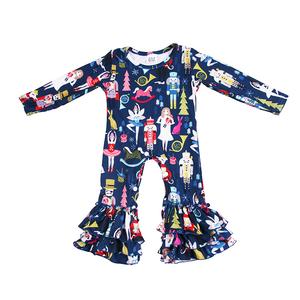 5402bab66 New Born Baby Girls Boys Ruffles Rompers Sleepsuits Pajamas