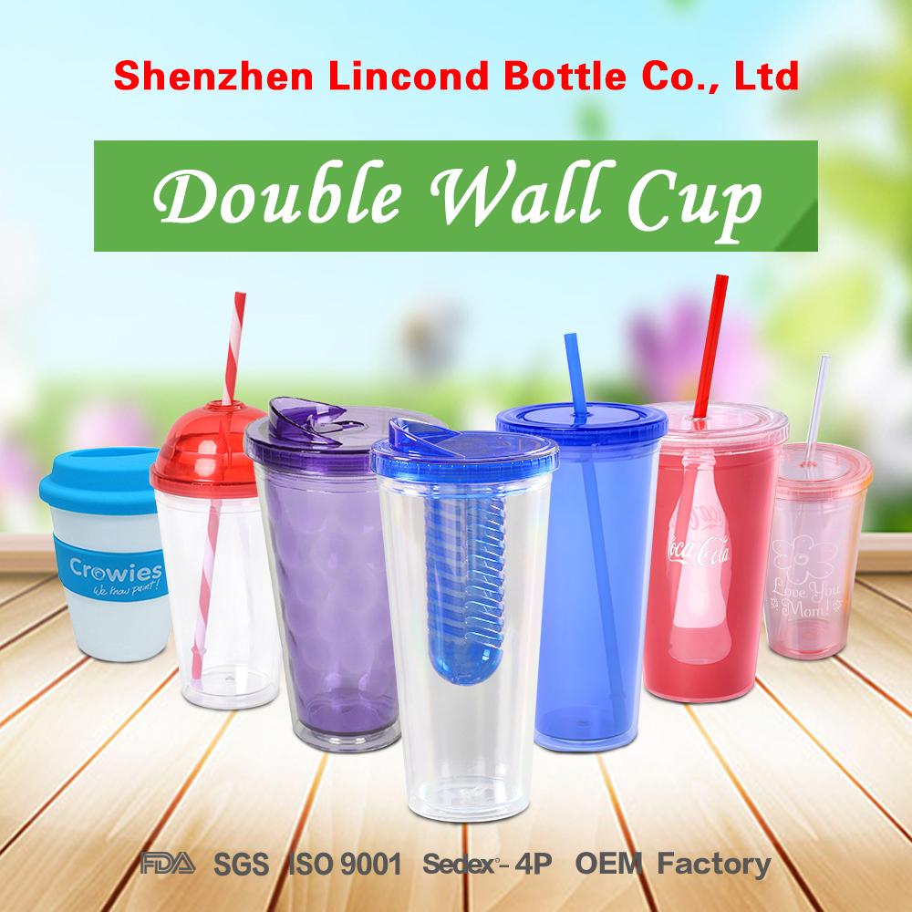 बड़ी क्षमता अनुकूलित लोगो पानी कप और 1000ML यात्रा प्लास्टिक की पानी की बोतल