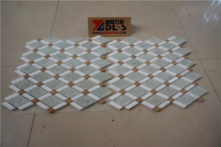 Groene Mozaiek Tegels : Badkamer wandtegels groene marmeren kubus 3d mozaïek tegel buy