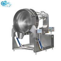 Sugar boiling pot with mixer industrial cooking mixer machine chili sauce jacketed kettle
