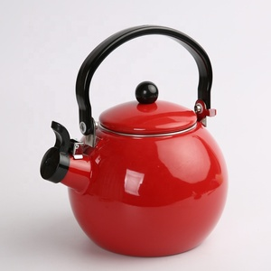 1.4L enamel teapot whistle ball called pot Tree enamel thickening gas cooker tea kettle