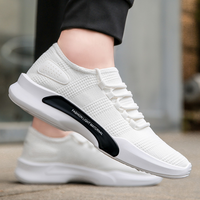 2019 Factory Low Price Footwear White Youth Lightweight Soft Flat Sole Nice Male Sport Shoes