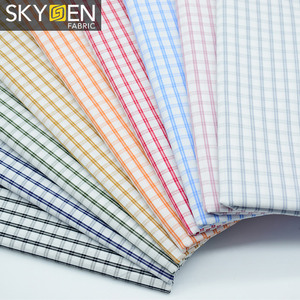 New Fashionable Yarn Dyed Gingham Check Fabric 100 Cotton Shirt Cloth