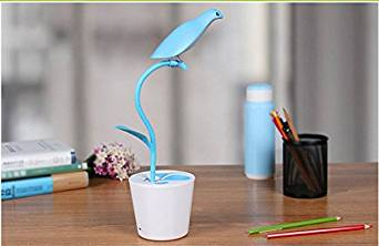 JUSTUP LED Desk Lamp Gooseneck Eye-caring Table Lamp, Children Learn The Desk Lamp that Shield an Eye, The Desk Lamp of The Head of a Bed, a Student Dormitory Small Desk/ Reading Lamp