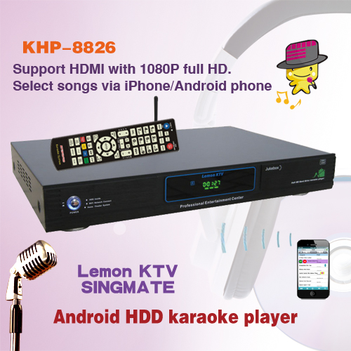Best sale Android home ktv karaoke player sing machine with songs