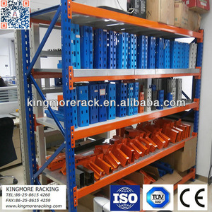 Warehouse storage long span steel shelf shelving system