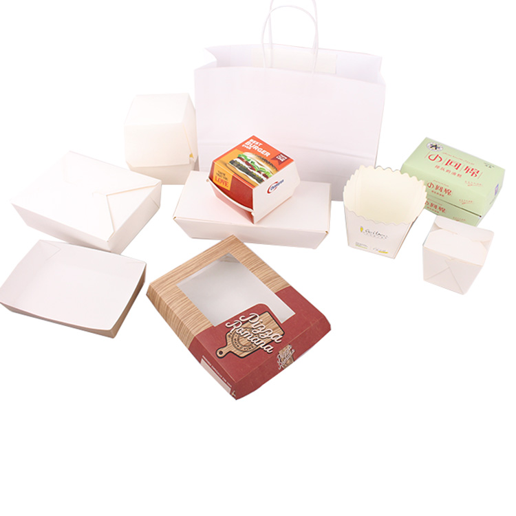 2019 restaurant use customized fast food packaging take out fast food box, disposable food containers