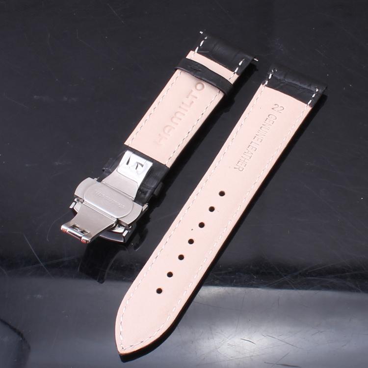 Черный коричневый мужчины в просмотрам аксессуары серебро бабочка застежка группы ремни 18 19 20 22 мм ремешки для наручных часов