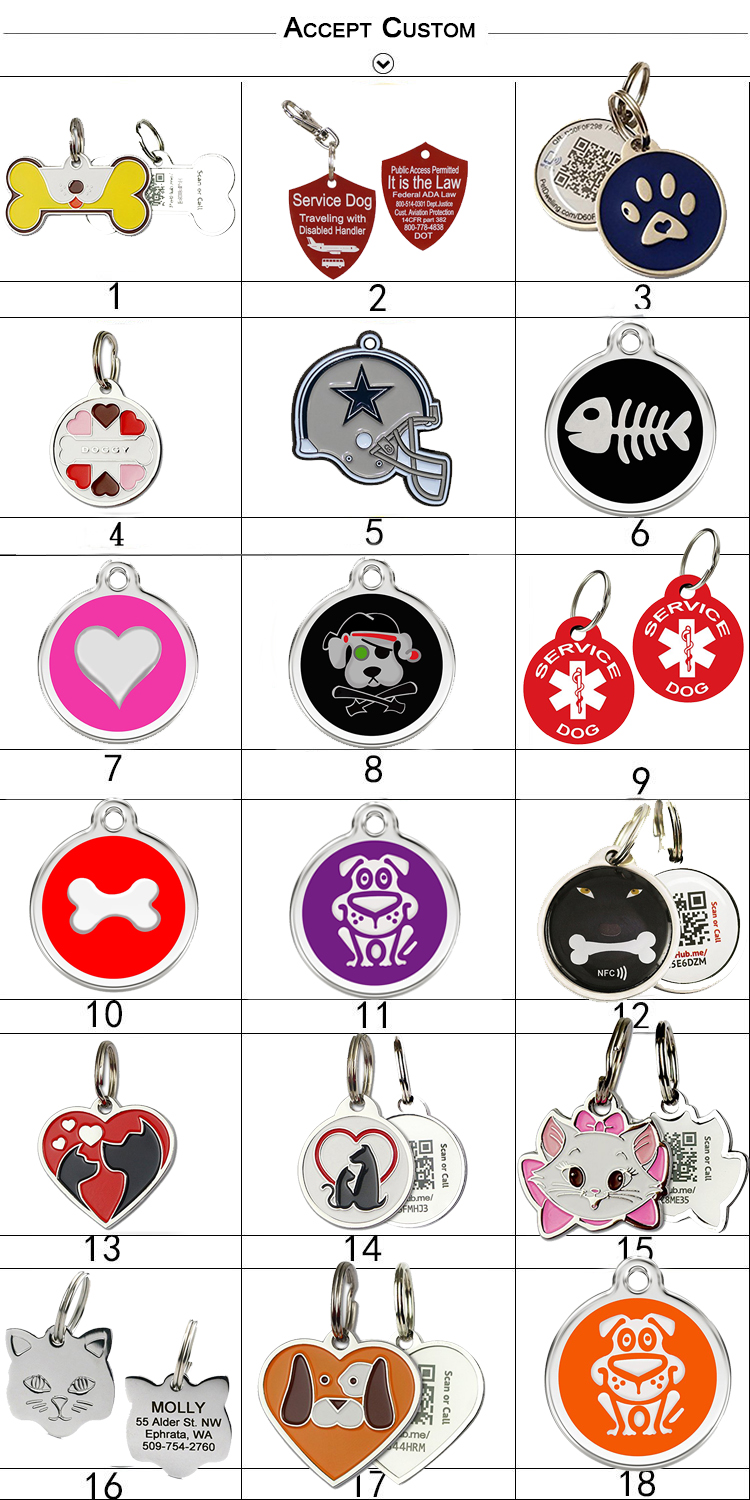 Custom Rubber Metal Dog Tag Pet ID Tag For Dog