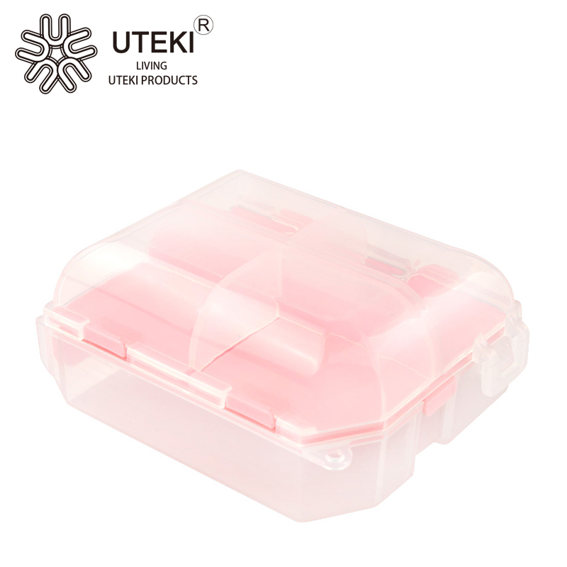 Promotional colorful plastic mini pill box in square shape