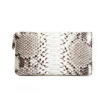 16e26a80186 De Lujo hecho a mano de cuero exótico de Python serpiente piel cartera para  las mujeres