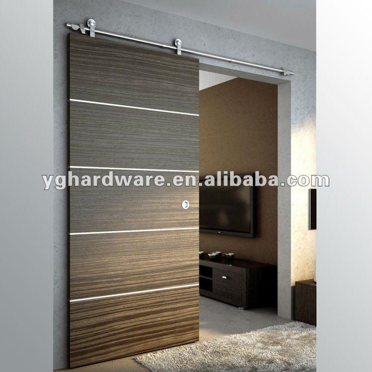 Puertas correderas de madera yg w004 puertas for Correderas para puertas de madera