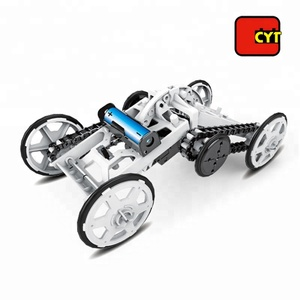 intelligent assembly science 4WD electric climber car toy diy kit for kids