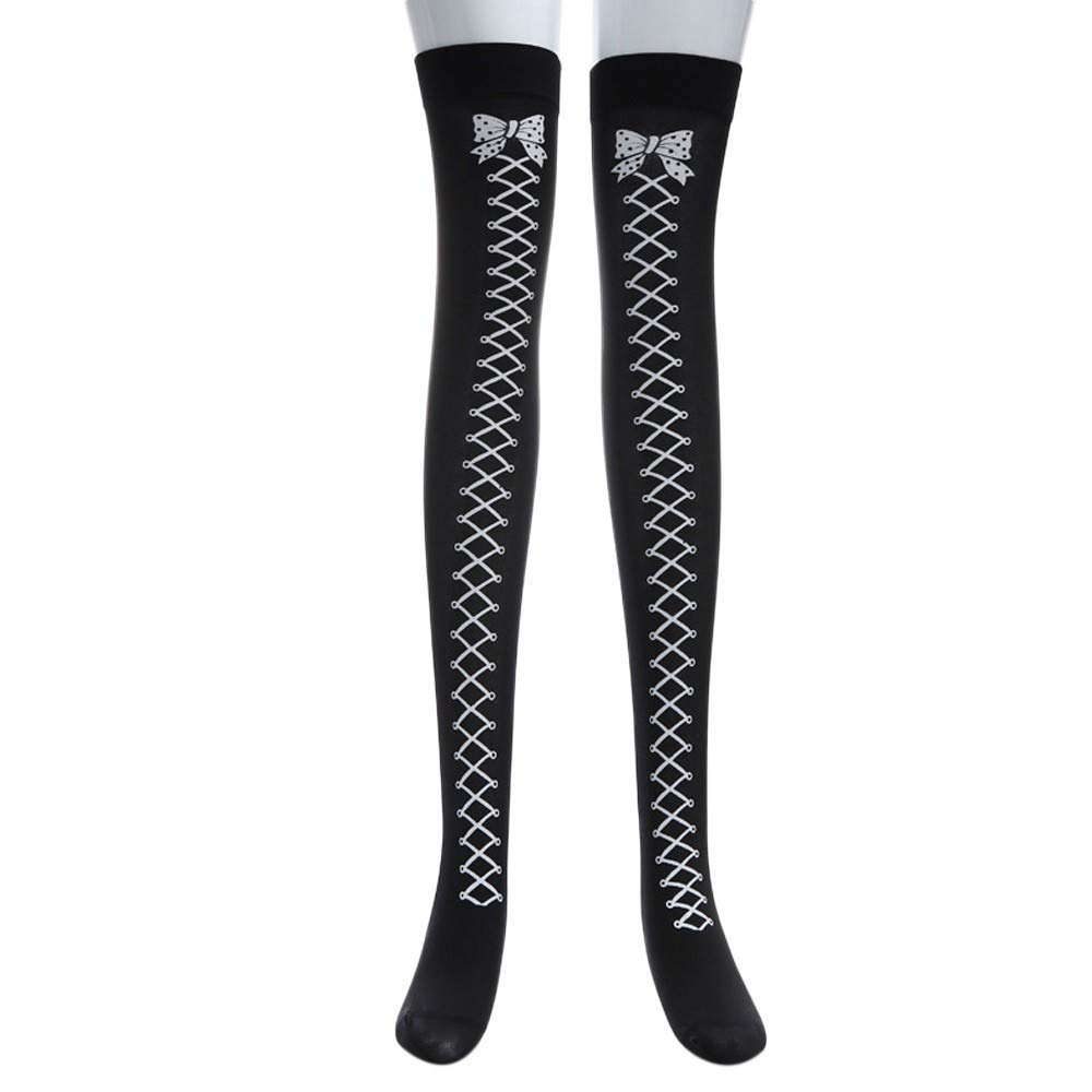 0f2592b561629 Get Quotations · Halloween Long Tube Knee Socks Masquerade Socks Fancy Dress  Black Socks