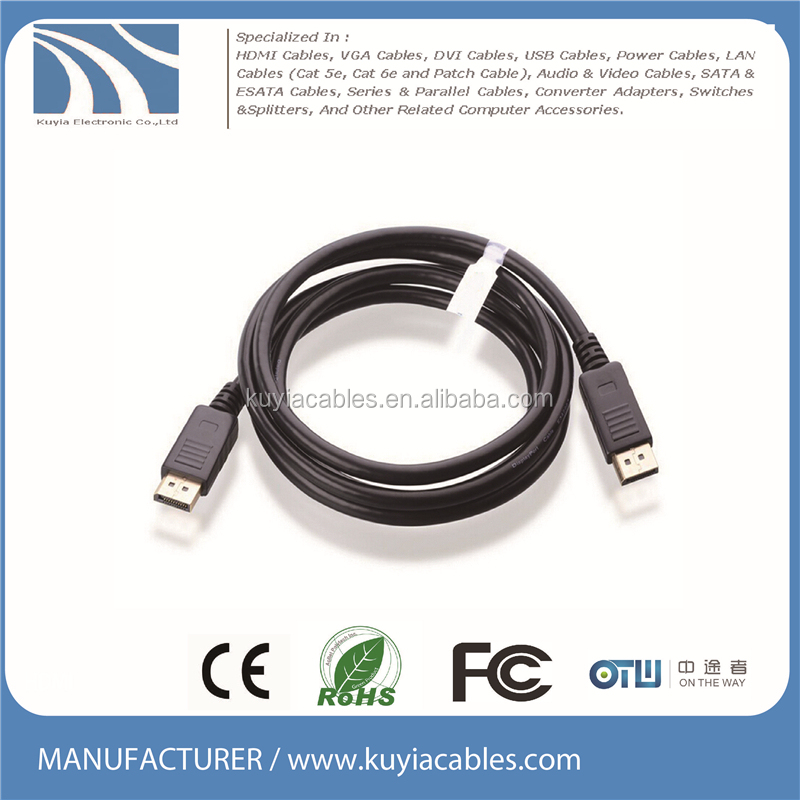 Kuyia DisplayPort to DisplayPort Cable 1.2a 4K Resolution 0.5M/1M/1.8M/3M/5M/10M