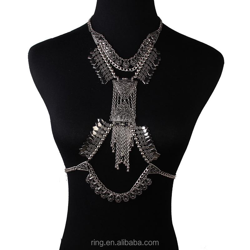 2058896c57992 Sexy Rhinestone Bikini Chain Bra Lingerie Halter Body Chain Jewelry Gift