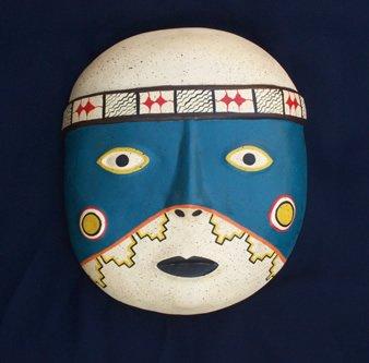 Maschera peruviana mano in ceramica dipinta buy maschera in