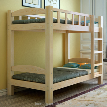 . Kids Single Bed Pine Wood Double Decker Bunk Bed   Buy Wood Double Bed  Designs Double Decker Bed Design Double Decker Bunk Beds Product on  Alibaba com