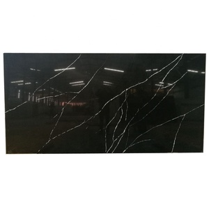SH7223 Wholesale Cheap Price Nero Marquina Black Quartz Stone Slab For Table Top And Kitchen Countertop