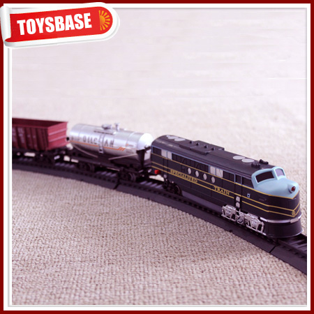 Kids Funny B/O Battery Operated 1:87 Plastic Classic Railway Electric Locomotive toy kids battery electric model trains for sale