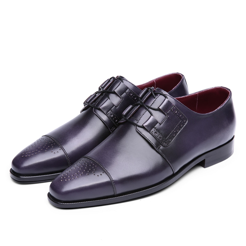 08a9ccdb Terse zapatos de cuero genuino italiano diseño hecho a mano Oxford calidad  superior dropshipping hombres zapatos