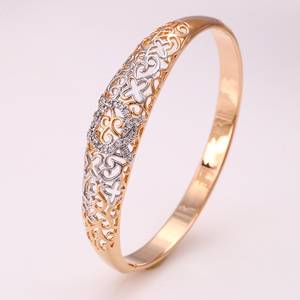 50894 xuping artificial imitation gold plated bangles models design