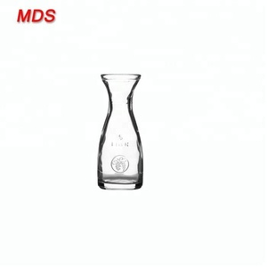 Price list empty wide mouth glass bottle for beverage and milk