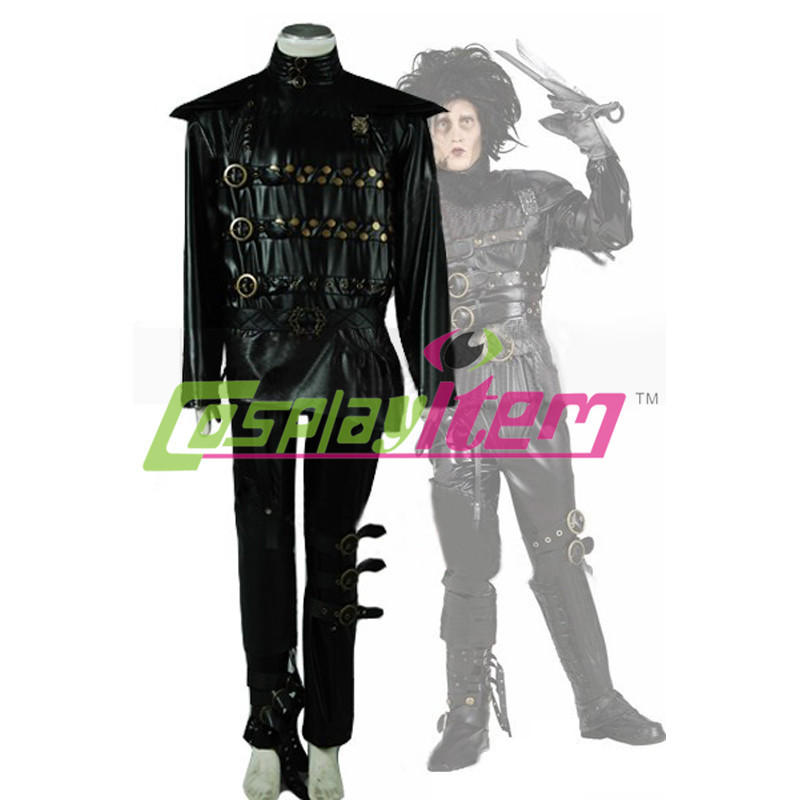 Edward Scissorhands Movie EDWARD COSTUME 1-Sided Big Print Poly Juniors T-Shirt