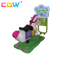 CGW Amusement kiddie ride 3d racing horse Coin operated kiddie rides game machines for children