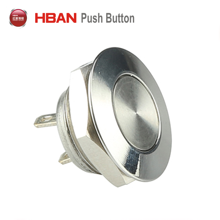 Super short 12mm waterproof momentary off-on switch push button switch