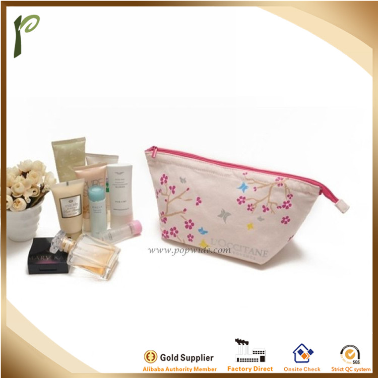 Popwide Printing eco-friendly wholesale canvas cosmetic bag
