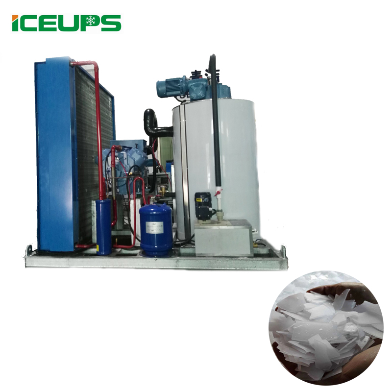 KMS-15T Machine à Glace En Flocons Pour L'industrie, Machine de Fabrication de Glace En Stock