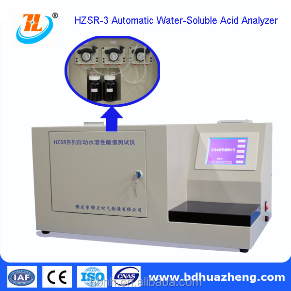 HZSR-3 lab use High Precision acid value castor oil/palm oil tester