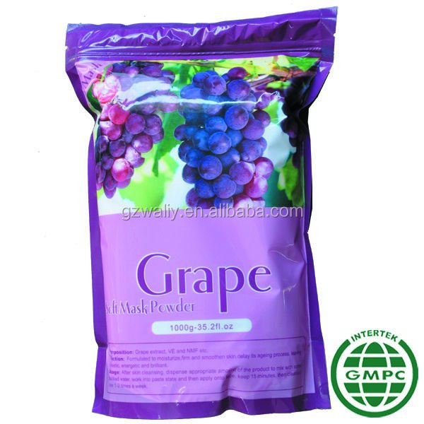 OEM Moisturizing Soft Powder Peel Off Face Mask/Anti-aging Grape Facial Mask 1000g
