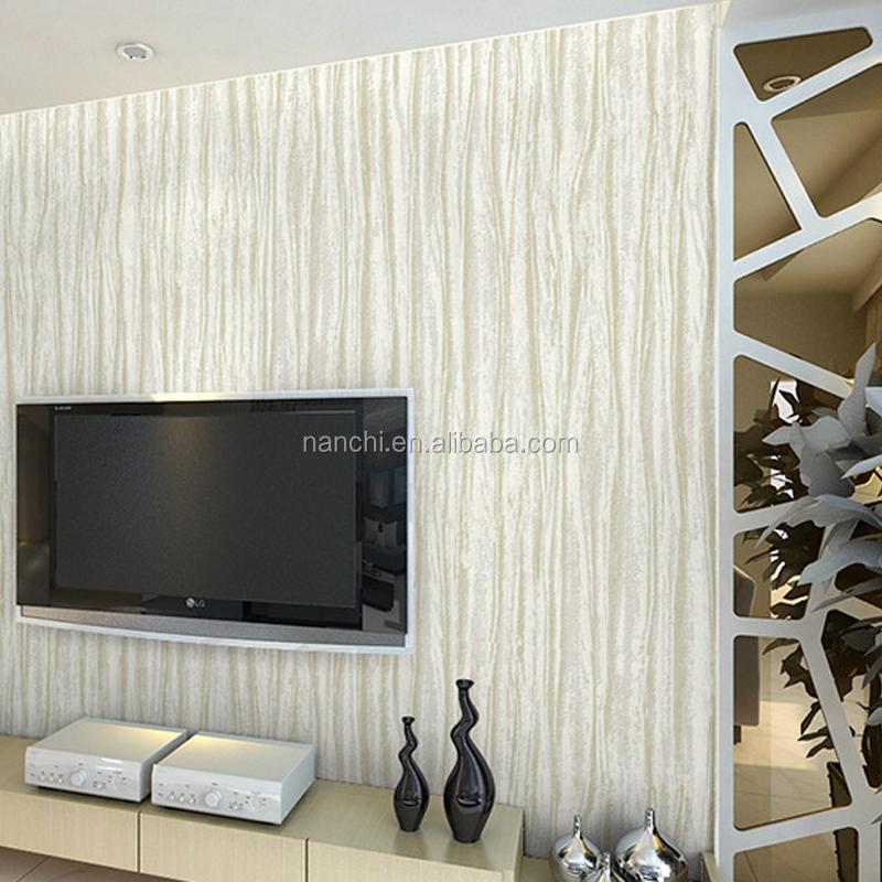 Minimalis Modern Non Woven Wallpaper Ruang Tv Latar Belakang Dinding Interior Dekorasi