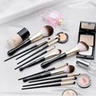 MSQ 12pcs Private label professional Makeup brushes manufacturers china bling makeup brush set mermaid vagan without bag