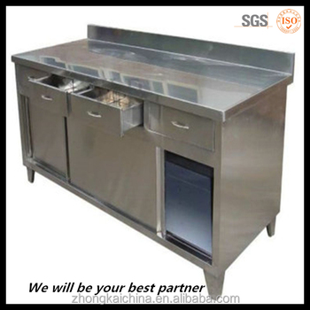 wholesale cheap price stainless steel industrial kitchen cabinet with