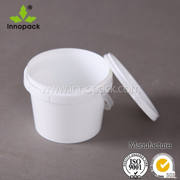 Food grade transparent 3000ml plastic pail for sale