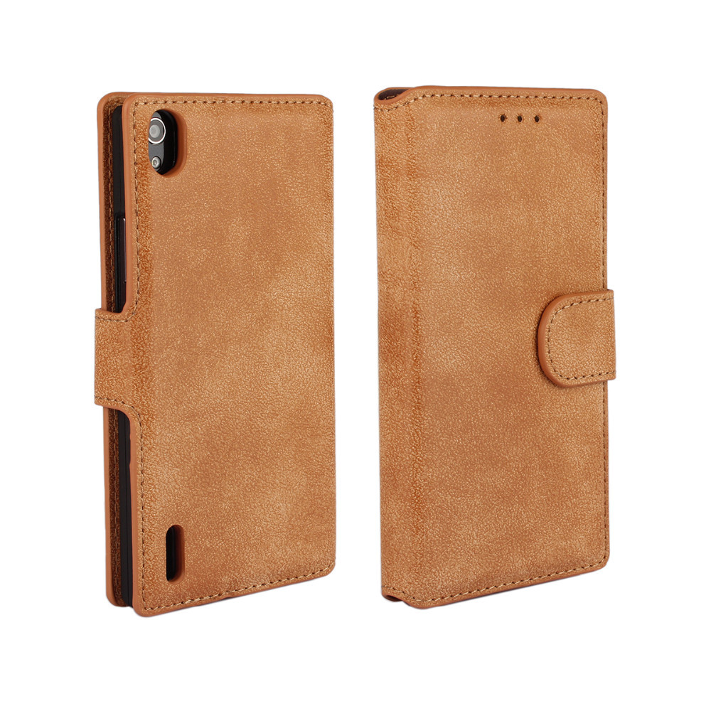 Metro Matt PU Leathe Cell Phone Case For Huawei Ascend P7 Mobile Phone Accessories