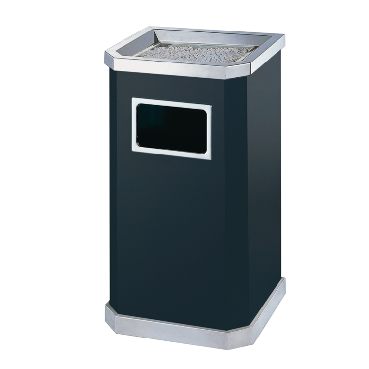 Star hotel standing public ashtray stainless steel waste garbage trash can