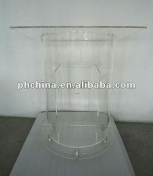 CD-354 Clear Modern Stable Lucite/Acrylic Lectern/Church Pulpit,Acrylic Lectern/Podium/Rostrum/Dias