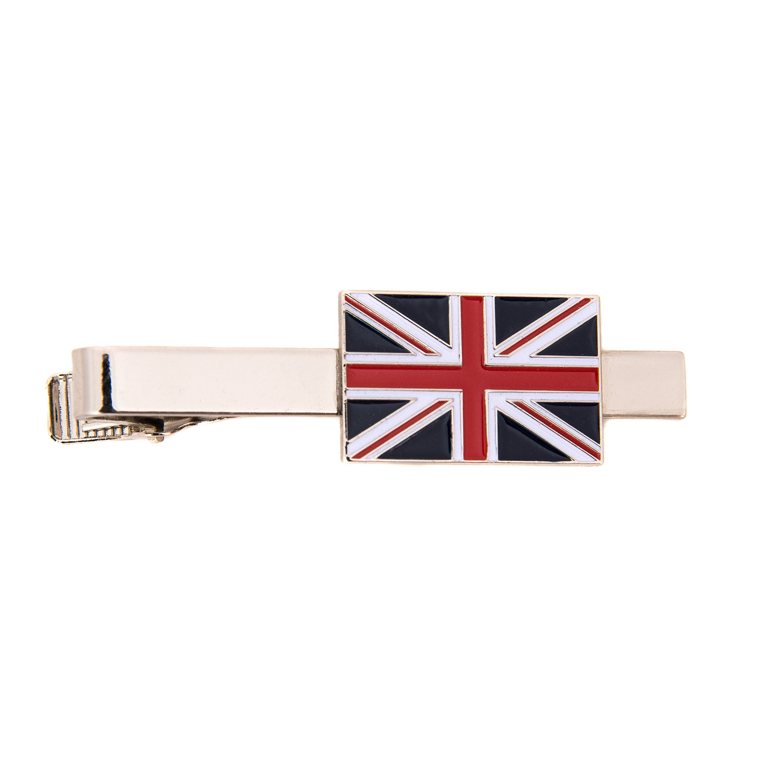 United Kingdom UK Country Rectangle Flag Tie Bar Made of Metal Souvenir
