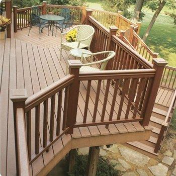 Outdoor Wood Stair Railing