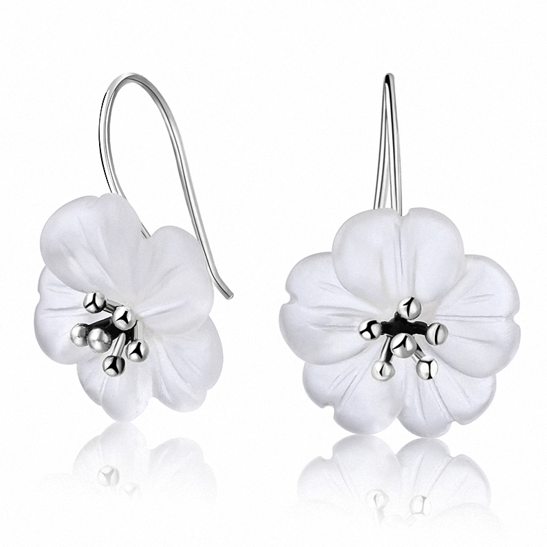 Hot Selling 925 <strong>Sterling</strong> <strong>Silver</strong> Fashion fascinatingly crystal <strong>drop</strong> <strong>earrings</strong>