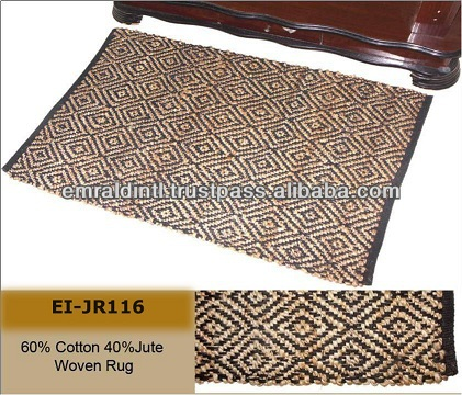DESIHNER NATURAL JUTE COTTOT WOVON RUGS