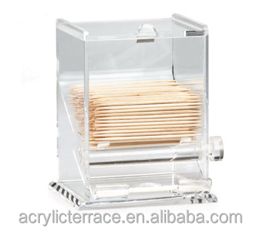Acrylic Perspex Automatic Toothpick Dispenser & Holder