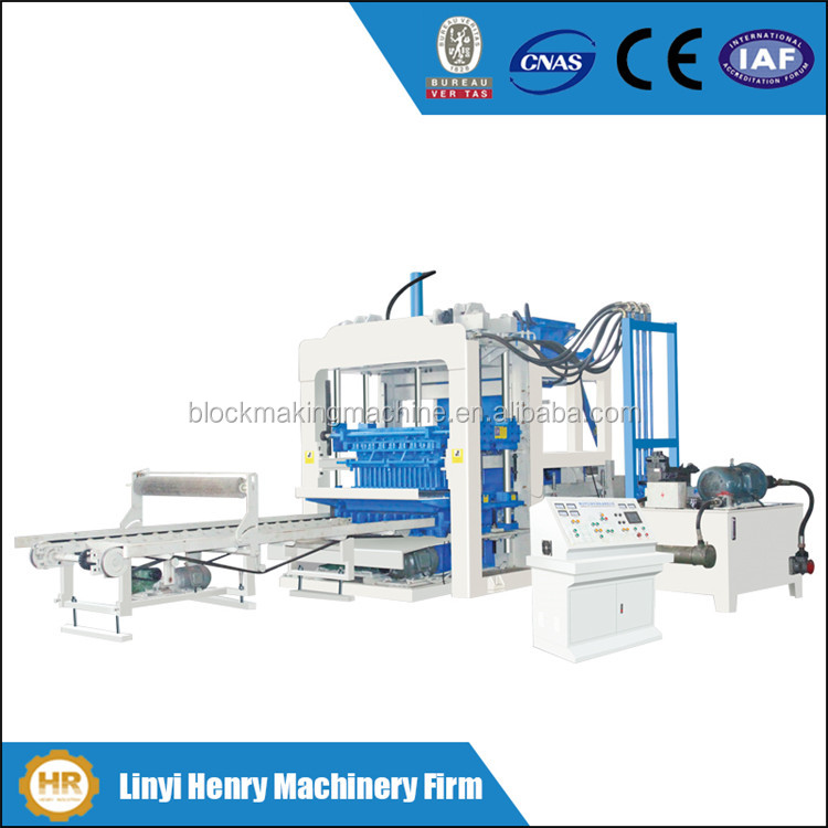 QT6-15 Henry block machinery high capacity fully automatic cement block moulding machine, paving brick machine price