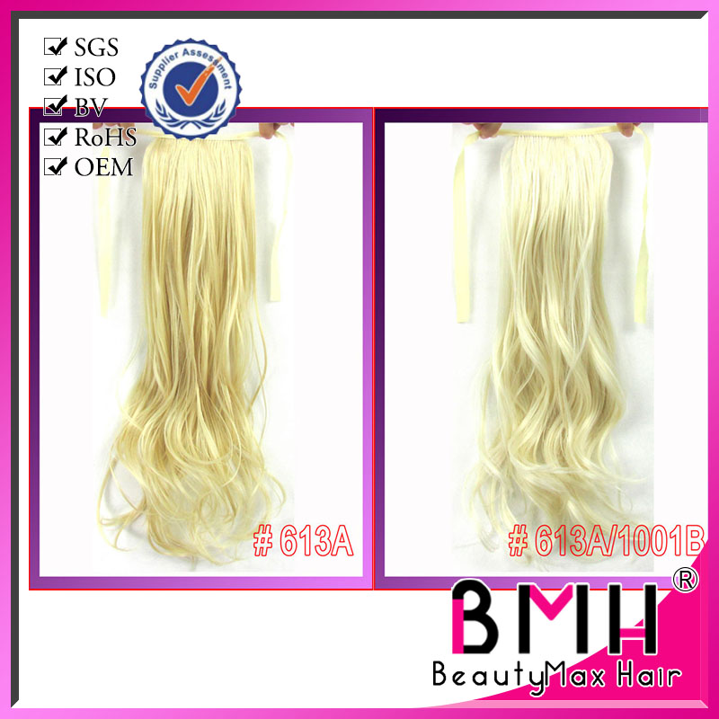 high quality unprocessed human hair ponytail