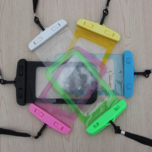 2016 New phone bag underwater waterproof phone bag diving bag mobile phone pouch case for iphone4 4S 5S 6Plus for Samsung Galaxy